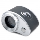 Lupa Mini Focus ajustable con 1-LED de luz blanca - Negro + Plata