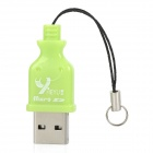 High Speed ​​USB 2.0 Micro SD / TF Card Reader - Green