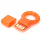 Mini Ring-Stil USB 2.0 Micro / TF Card Reader - Orange