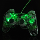 USB Wired Mono Shock Gaming Controller Joypad w/ Blue Light Effect for PC - Green