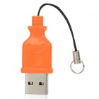 High Speed ​​USB 2.0 Micro SD / TF Card Reader - Orange