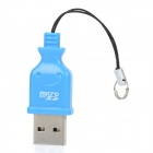 High Speed USB 2.0 Micro SD / TF Card Reader - Blue