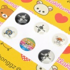 Cool One Piece Totenkopf-Muster Home Button Sticker für iPhone / iPod Touch / iPad (6-Stück-Packung)