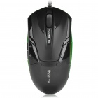 USB Wired 3-Button 1000DPI Optical Mouse - Black (135cm-Cable)