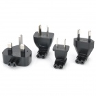 Universal Worldwide Travel Set of 4 AC Power Charging Adapter Charger for Laptop Notebook - Black