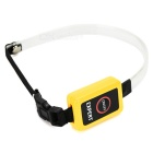 3-Mode Orange Light LED Flashing Dog Collar - Yellow + Black (2 x CR2032)