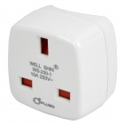 90-Degree Rotation UK to US Plug Adapter (10A/250V)
