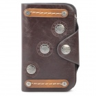 Punk Style Cowhide Wallet Purse - Silver + Brown