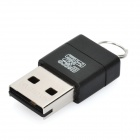 Mini USB 2.0 T-Flash Card Reader - schwarz (max. 32GB)