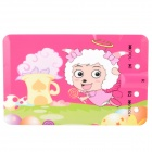 Cute Goat Pattern Card Style USB 2.0 Rechargeable MP3 Player w/ TF Slot - Deep Pink (1GB)