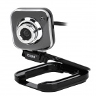 Compact 5.0MP PC USB Webcam w/ Built-in Microphone - Black (120cm)