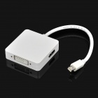 Mini DisplayPort Male to DVI 24 + HDMI + DisplayPort Female AV Adapter - White (18cm-Cable)