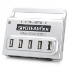 5-Port USB 2.0 Hub w / CF / MS / SD / M2 / TF / Mini SD / XD-Picture Card Reader / Bluetooth - Silber