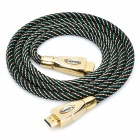 Version 1.3 HD 1080P HDMI Male to Male Connection Cable - Black + Golden (1.4M)