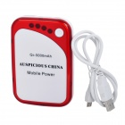 External 5000mAh Emergency Mobile Battery Power Charger for Cell Phone / PSP / MP3 - Red + White