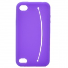 Smiling Protective Silicone Case for iPhone 4 / 4S - Purple