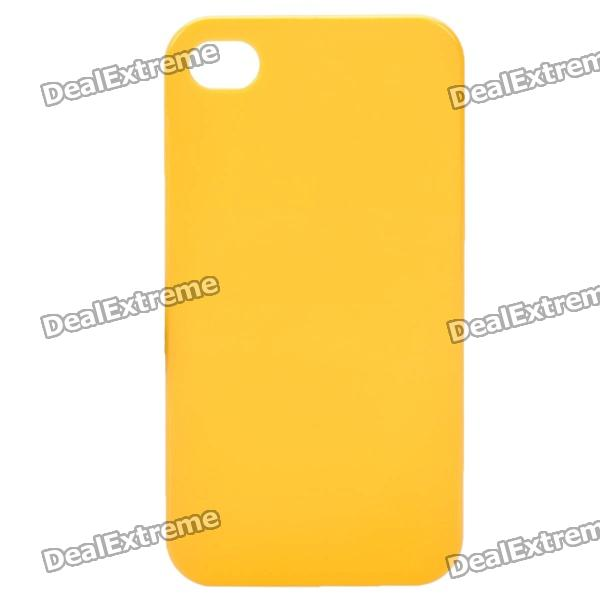 Protective PVC Back Cover Case for Iphone 4/4S - Yellow