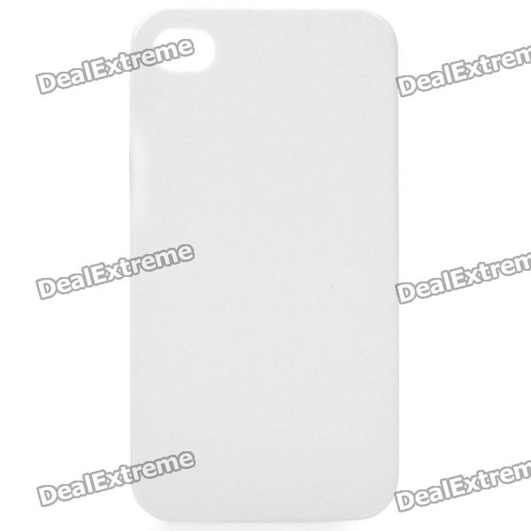 Protective PVC Plastic Case for Iphone 4 / 4S - White
