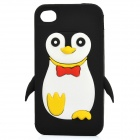 Protective Penguin Style Silicone Case Cover for Iphone 4/4S - Black + White + Yellow + Red