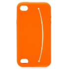 Smiling Protective Silicone Case for iPhone 4 / 4S - Orange