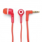 Stylish In-Ear Earphone for iPhone / iPod / iPad - Red + White (3.5mm Jack / 120cm)