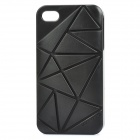 Protective Coin Stand Plastic Back Cover Case for iPhone 4/4S - Black