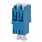 LC/PC Duplex Fiber Optic Cable Adapter Coupler - Blue