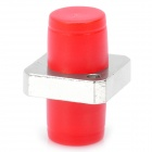 FC/PC Square Fiber Optic Cable Adapter Coupler - Red