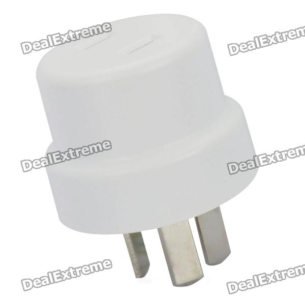 Portable 2P to 3P flat Plug AC Power Adapter - White