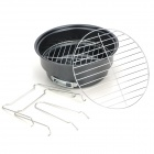 Outdoor Camping Stove BBQ Grill Set - Black + Silver