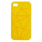 Stylish Coin Stand Plastic Back Cover Case for iPhone 4/4S - Yellow