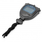 Outdoor Sports Stopwatch with Time/Date/Week Display - Black (1 x CR2032)