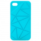 Protective Coin Stand Plastic Back Cover Case for iPhone 4/4S - Blue