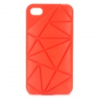 Protective Plastic Case for iPhone 4 / 4S - Red