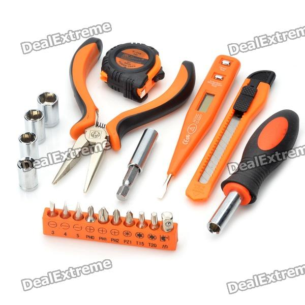 PICASSO PS-J005 21-in-1 Screwdrivers + Pliers + Voltage Tester + Tape Tools Kit picasso ps g002 9 in 1 hammer screwdrivers voltage tester knife tape pliers tools kit