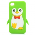 Protective 3D Penguin Style Silicone Cover Case for Iphone 4/4S - Green