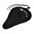 Padded Silicone Gel Bike Saddle Cover - Black