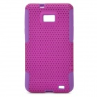 Protective Silicone + PC Back Case Cover for Samsung i9100 - Purple