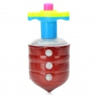 Plastic Spinning Top With 3-LED Colorful Light - Deep Red (3 x AAA)