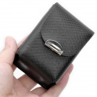 Portable Mini Snap Button Case for Folding Glasses - Black