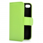 Protective Flip-open PU Case Cover with Card Slot for Iphone 4/4S - Green