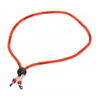 Sports Elastic Nylon Strap Cord for Glasses Sunglasses - Red (63cm-Length)