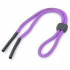 Sports Elastic Nylon Strap Cord for Glasses Sunglasses - Purple (49cm-Length)