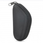 Portable Mini Zippered Case for Folding Glasses - Black