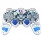 2.4GHz Wireless Dual-Shock Gaming Control for PS2 / PS One / PS X - Blue (3 x AAA)