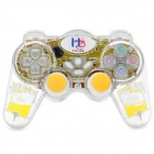 2.4GHz Wireless Dual-Shock Gaming Control for PS2 / PS One / PS X - Yellow (3 x AAAA)