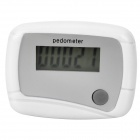 "0.9"" LCD Clip-on Pedometer - White (1 x LR1130)"