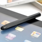 Creative Aluminum Alloy Hexagon Capacitive Screen Stylus Pen - Black