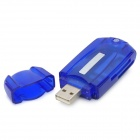 Multi-Function USB 2.0 Card Reader - Blue