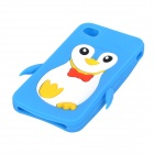Cute Penguin Style Protective Soft Silicone Case for Iphone 4 / 4S - Blue